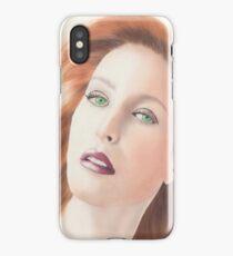 Portrait of Gillian Anderson x files iPhone Case/Skin