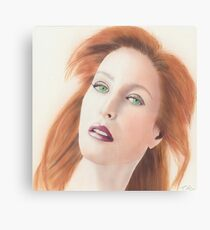 Portrait of Gillian Anderson x files Canvas Print