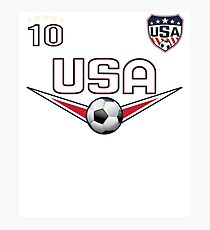 USA Soccer T shirt with Number 10 Photographic Print