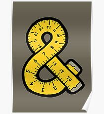 Ampersand Measuring Tape Poster