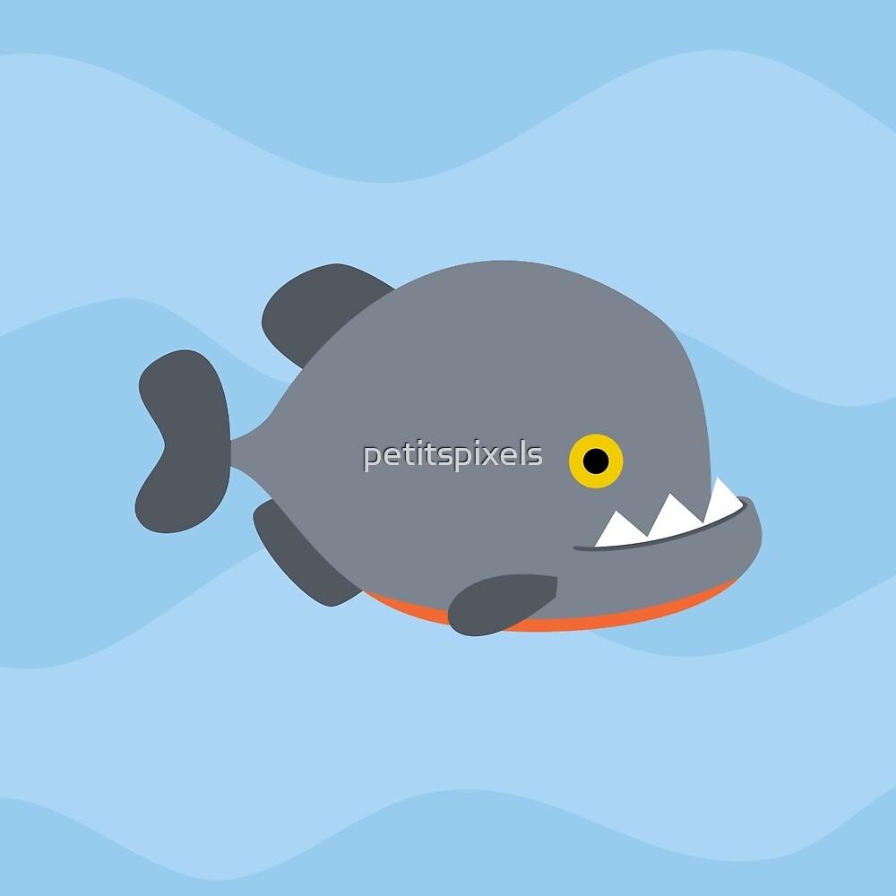 A school of piranhas by petitspixels