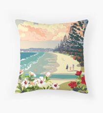 Orewa Beach, New Zealand Throw Pillow