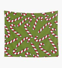 Candy Cane Pattern Wall Tapestry
