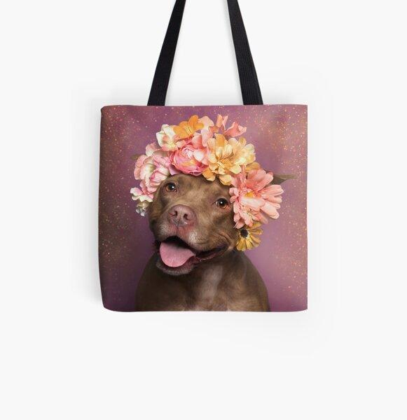 Flower Power, Topaz All Over Print Tote Bag