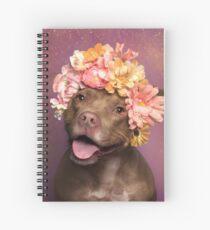 Cuaderno de espiral Flower power, topacio