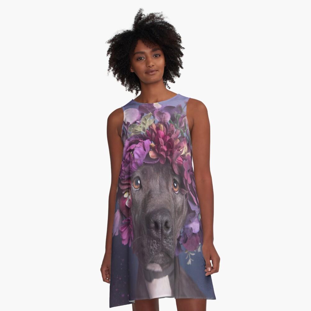Flower Power, Arie A-Linien Kleid