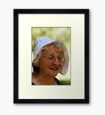 Lady With Bonnett Framed Print