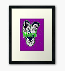 the misfits caricature  Framed Print