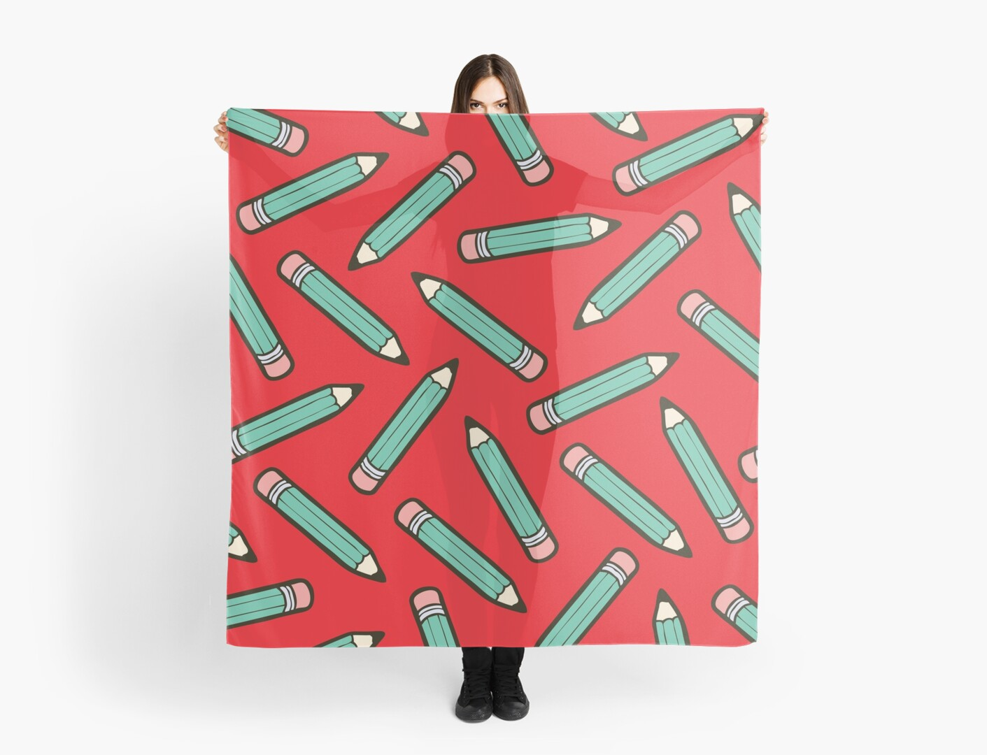 Pencil Power Red Pattern by evannave