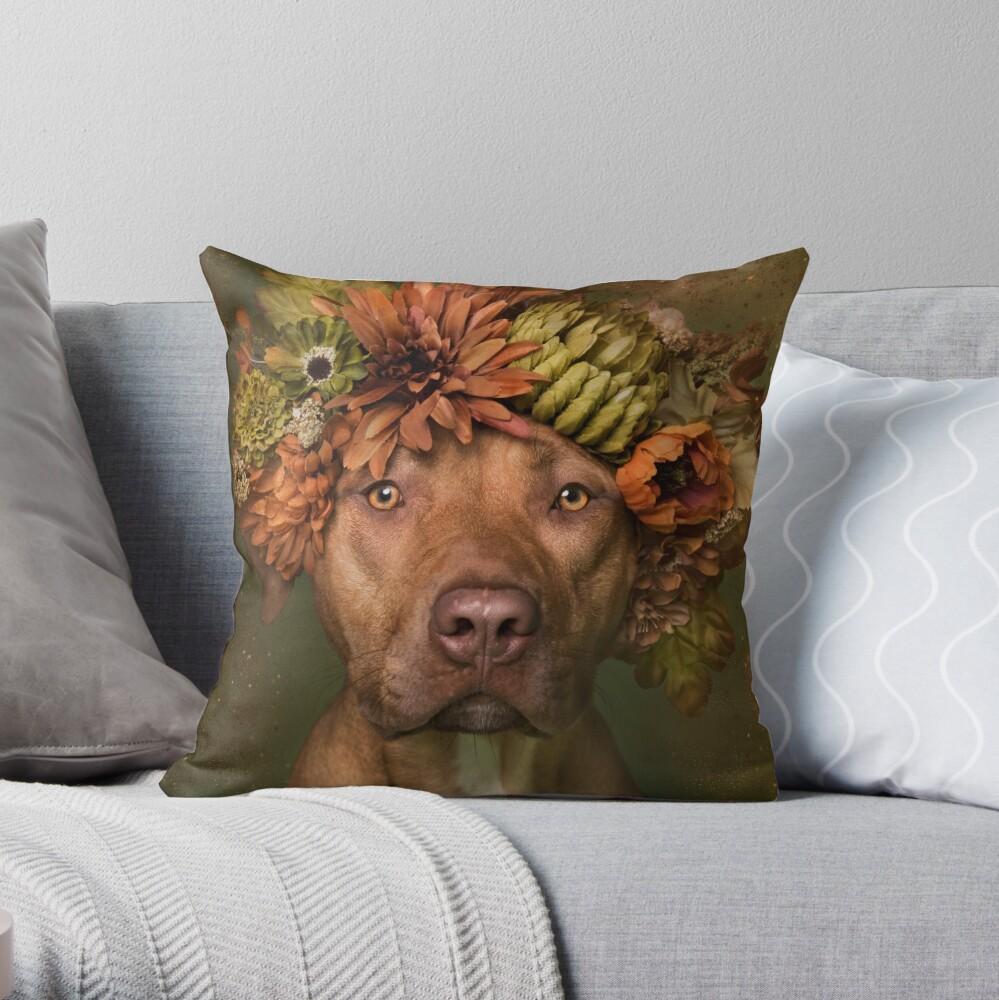Flower Power, Finn Throw Pillow