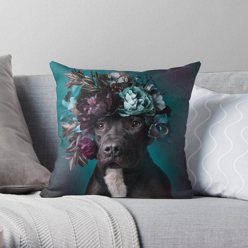 Flower Power, Aden Throw Pillow
