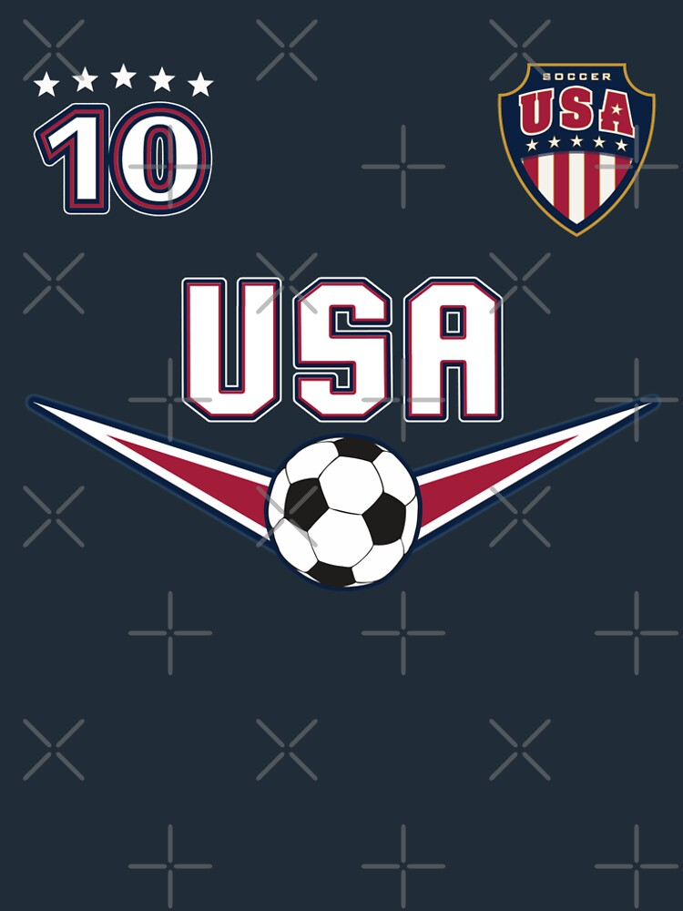 USA Soccer T shirt with Number 10 by fermo