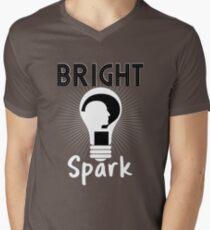 Bright Spark Funny Light-Bulb Head Design T-Shirt