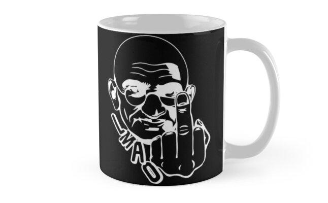 Gandhi - Dark Shirt by WaltArt
