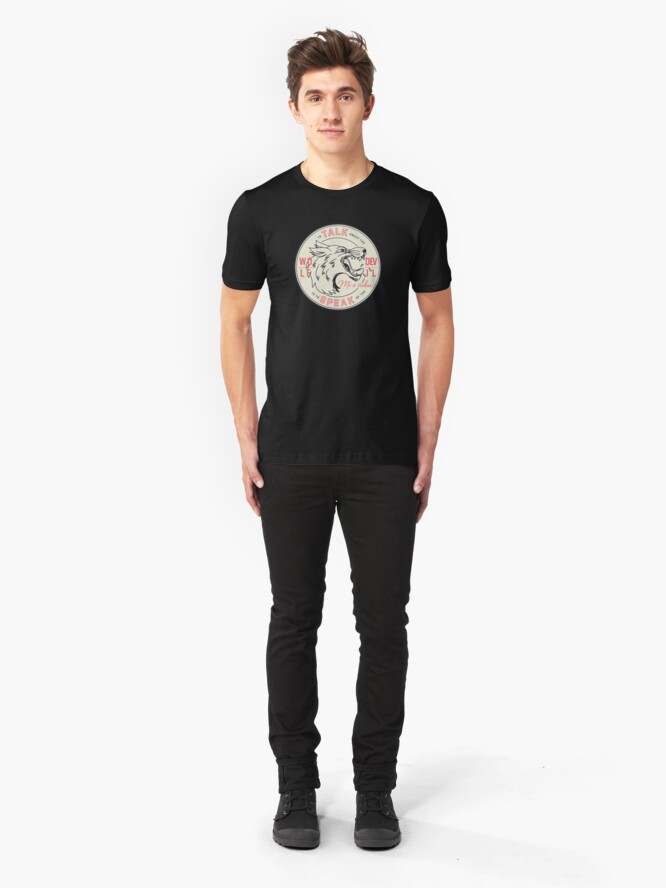 Alternate view of To Talk About the Wolf Slim Fit T-Shirt