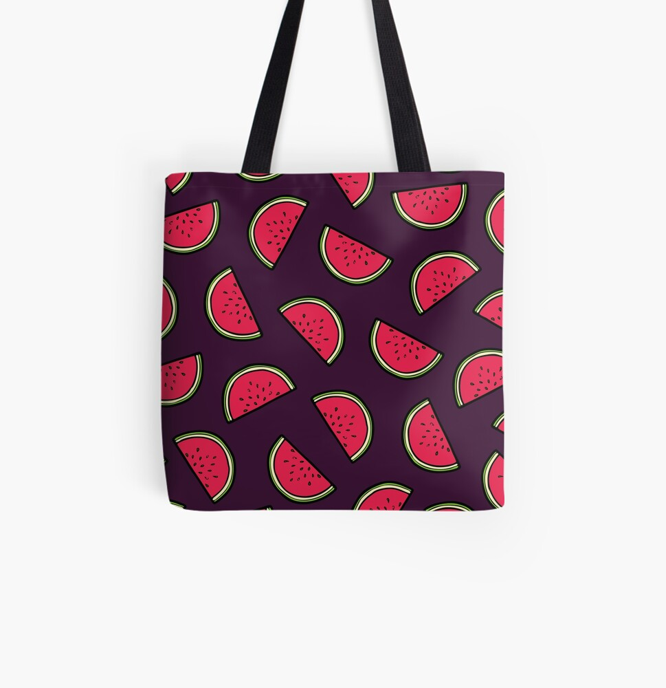 Watermelon Pattern All Over Print Tote Bag