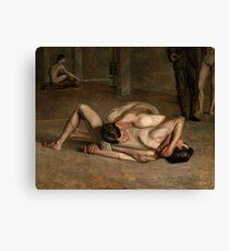Wrestlers by Thomas Eakins Canvas Print