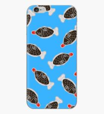 Sushi Soy Fish Pattern in Blue iPhone Case