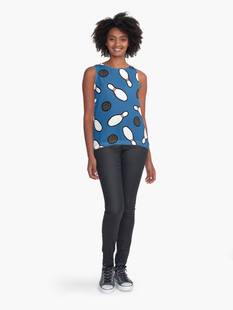 Alternate view of Bowling for Pins Pattern Sleeveless Top