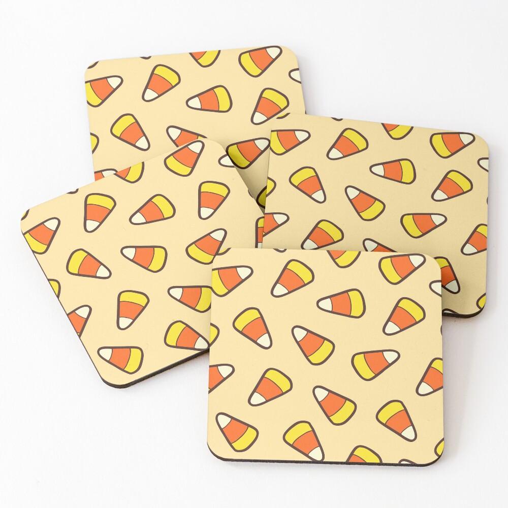 Candy Corn Pattern Coasters (Set of 4)