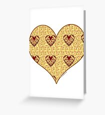 Pizza My Heart Pattern Greeting Card