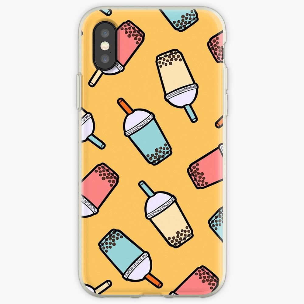 Bubble Tea Pattern iPhone Case & Cover