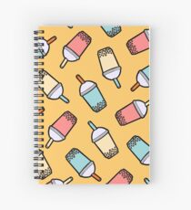 Bubble Tea Pattern Spiral Notebook