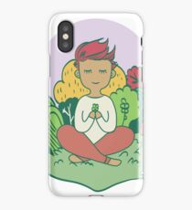 character meditate in nature iPhone Case/Skin