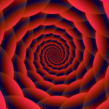 Red and Blue Spiral by Objowl