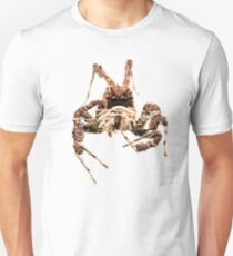 White-mustached jumping spider (Portia labiata, Salticidae) Unisex T-Shirt