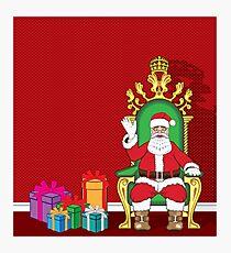 Santa sitting Photographic Print