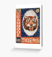 Distressed Detroit Tiger Yearbook 1964 Greeting Card