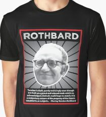 Murray Rothbard with Quote Graphic T-Shirt