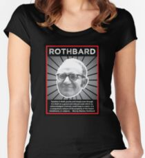 Murray Rothbard with Quote Women's Fitted Scoop T-Shirt