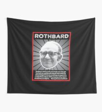 Murray Rothbard with Quote Wall Tapestry