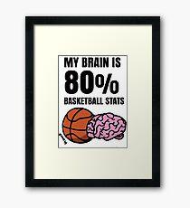 My Brain is 80% Basketball Stats Framed Print