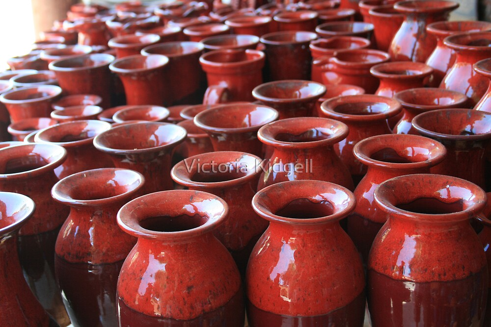 Red Pots by Victoria Kidgell