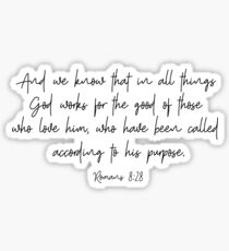 Romans 8:28 Sticker