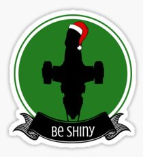 Serenity Firefly Shiny Christmas for Browncoats Sticker