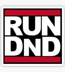 RUN DND Sticker