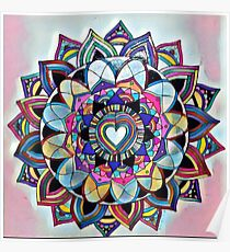 Heart mandala Poster