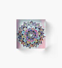 Heart mandala Acrylic Block
