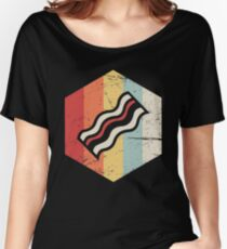Retro Vintage Bacon Icon Women's Relaxed Fit T-Shirt