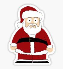Santa South Sticker