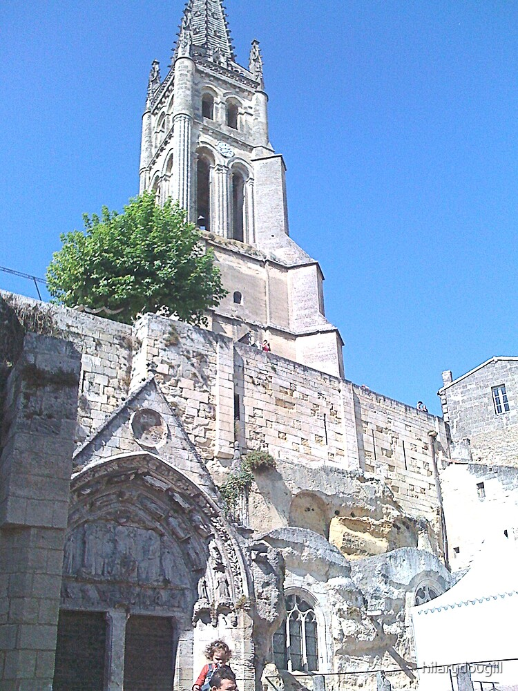 Romanesque church with steeple by hilarydougill