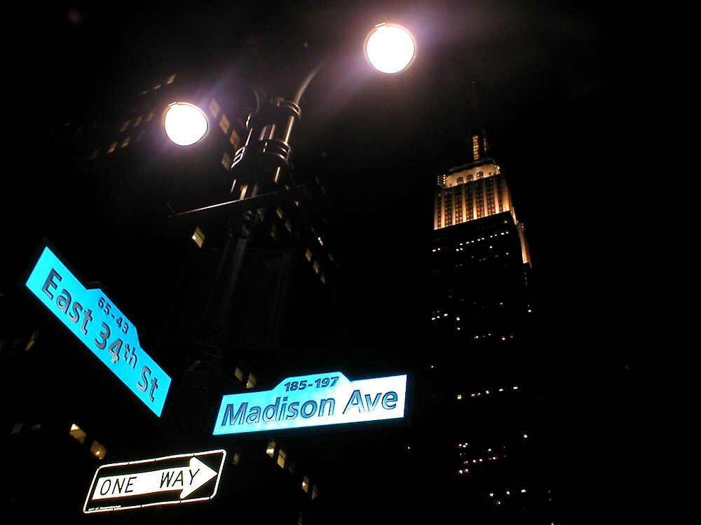Cross Road at Night by viba