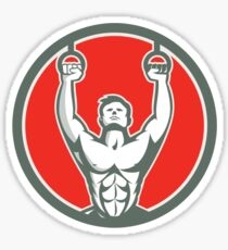 Kipping Muscle Up Cross-fit Circle Retro Sticker