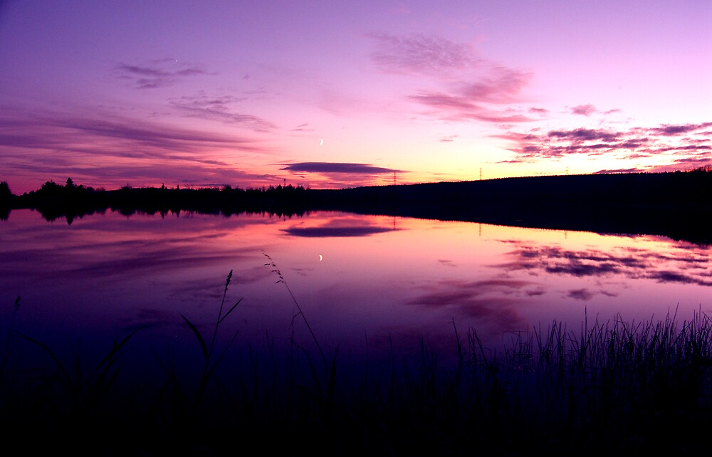 Sundown on the lake ... by SNAPPYDAVE