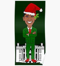 barack obama santa claus  Poster