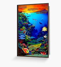 """QUEENSLAND AUSTRALIA"" Great Barrier Reef Travel Print Greeting Card"